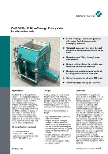IDMS blow-through rotary valve