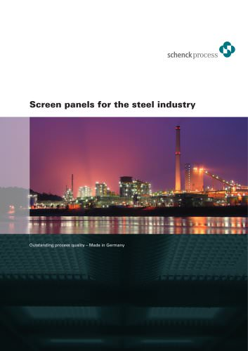 Screen panels for the steel industry