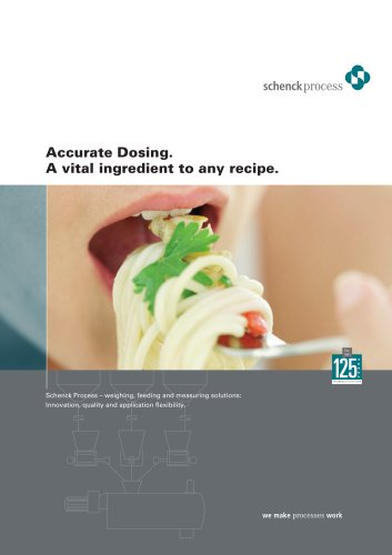 Weighing and Feeding Technology for the Food Industry