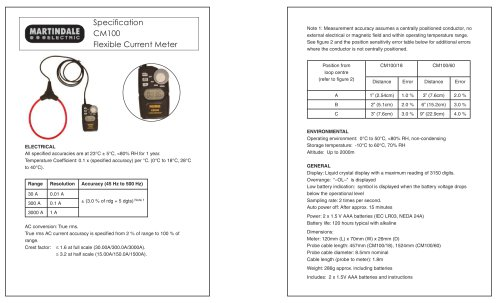Clamp Meters: Martindale CM100