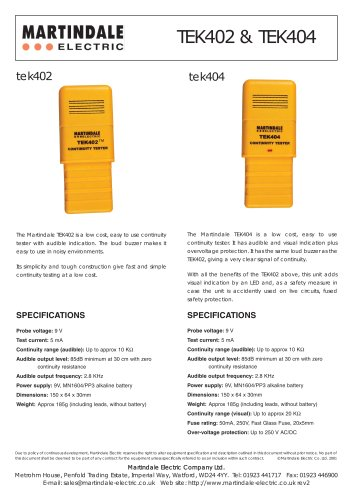 CONTINUITY TESTER WITH AUDIBLE INDICATION