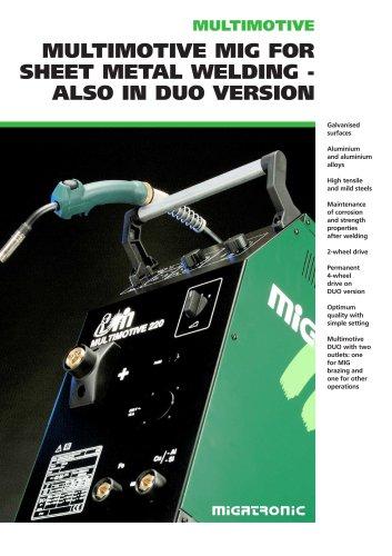Multimotive Step-regulated MIG/MAG