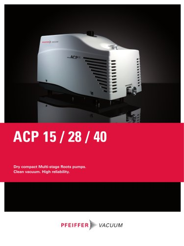 Dry compact Multi-stage Roots pumps - ACP 15 / 28 / 40