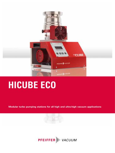 HiCube Eco - Modular turbo pumping stations