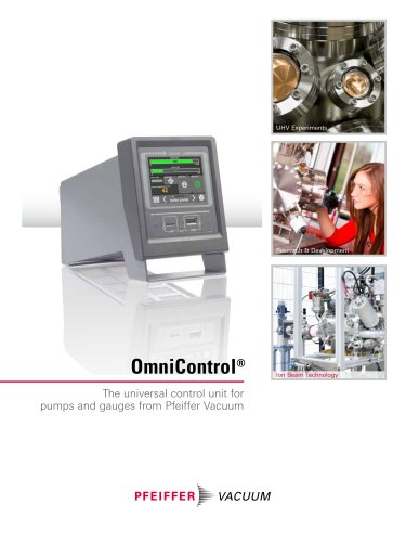 OmniControl - The universal control unit for Pfeiffer Vacuum pumps and gauges