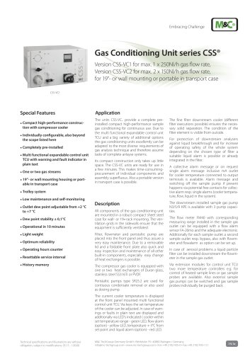 Gas Conditioning Unit series CSS®