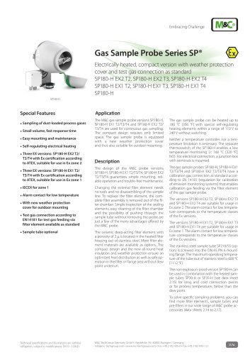 Gas Sample Probe Series SP®