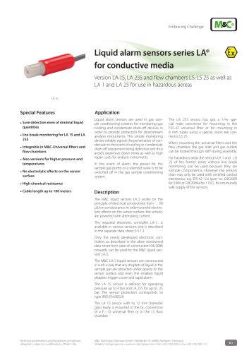 Liquid alarm sensors series LA® for conductive media