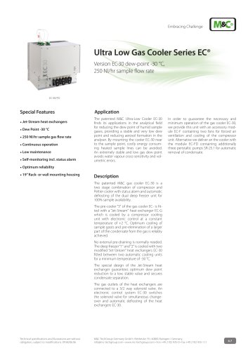 Ultra Low Gas Cooler Series EC®