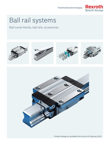 Ball rail systems Ball runner blocks, ball rails, accessories