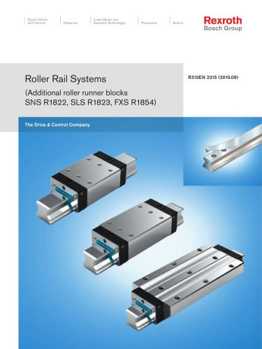 Roller Rail Systems (Additional roller runner blocks SNS R1822, SLS R1823, FXS R1854)