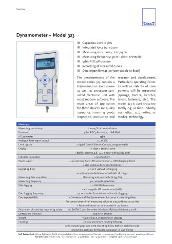 Dynamometer – Model 323