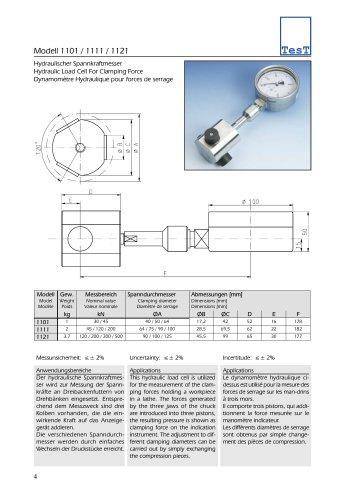 Modell 1101 / 1111 / 1121