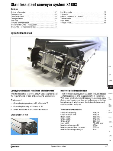 Conveyor system X180X
