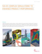 SOLVE COMPLEX SIMULATIONS TO  ENHANCE PRODUCT PERFORMANCE