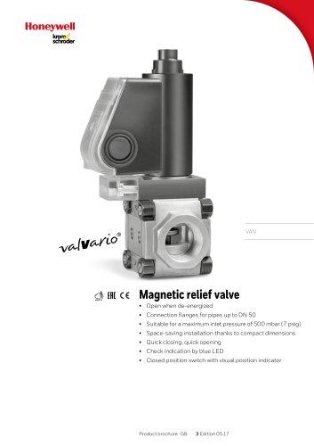 Magnetic relief valves VAN