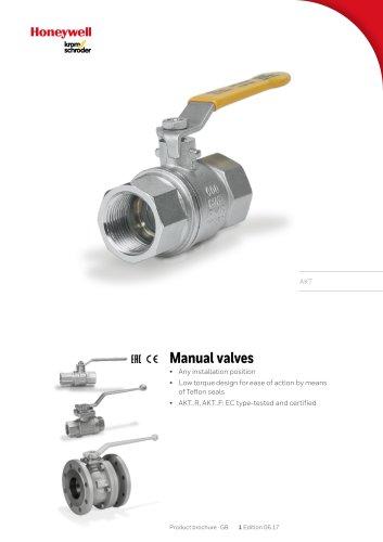 Manual valves AKT