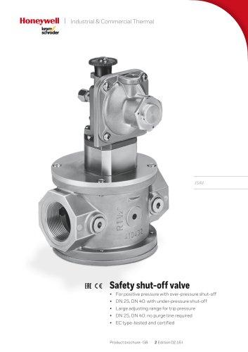 Safety shut-off valve