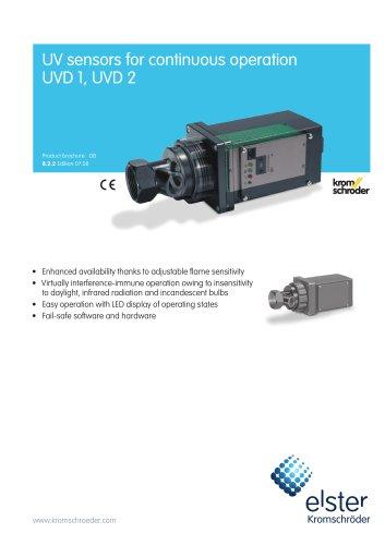 UV sensor for continuous operation UVD
