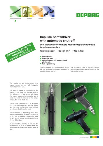 Impulse Screwdriver with automatic shut-off