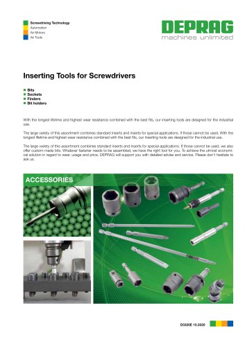 Inserting Tools for Screwdrivers