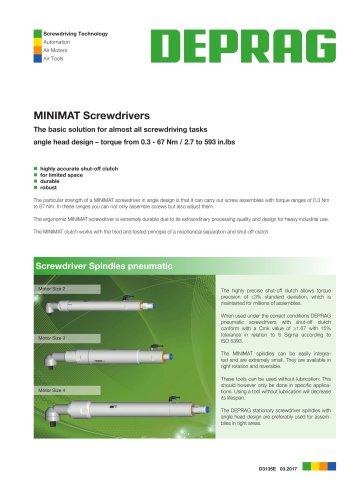 MINIMAT Screwdrivers angle head design - Screwdriver Spindles