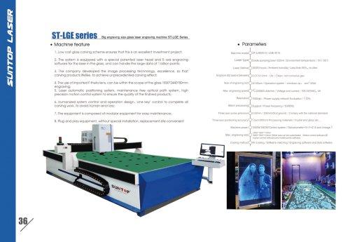 SUNTOP/Big engraving size glass laser engraving machine ST-LGE Series