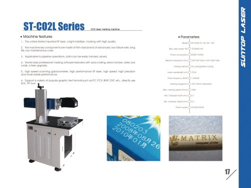 SUNTOP/CO2 laser marking machine