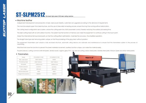 SUNTOP/Dis board high power CO2 laser cutting machine