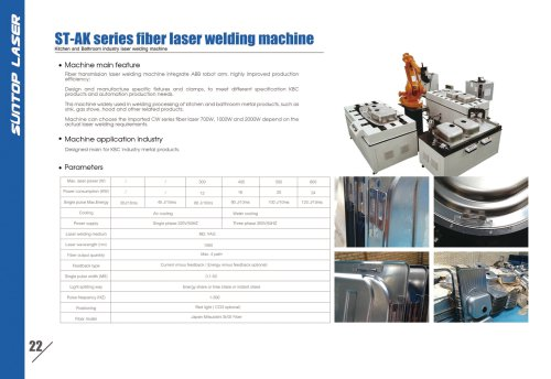 SUNTOP/Kitchen and Bathroom industry laser welding machine
