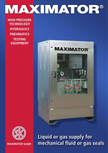MAXIMATOR Gas Seals 04-2008