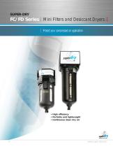 FC/FD series Mini filters and desiccant dryers