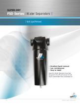 FSD series water separators