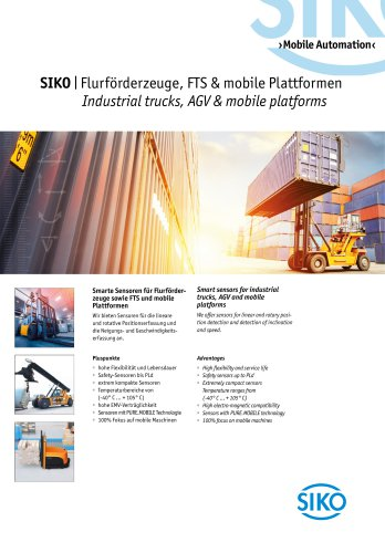 Industrial trucks, AGV & mobile platforms