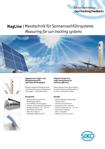 MagLine   Measuring for sun tracking systems
