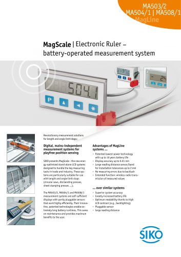 MagScale   Electronic Ruler –  battery-operated measurement system