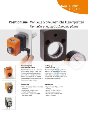 PositionLine   Manual & pneumatic clamping plates