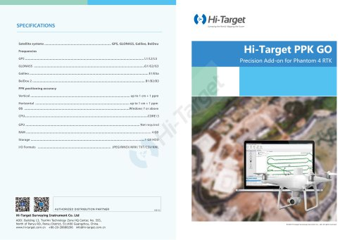 Hi-Target/ PPK Go Software for Phantom 4 RTK