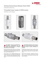 Threaded hose nozzles, stainless steel design
