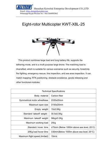 25kg Load big drone 8-rotor multirotor drone