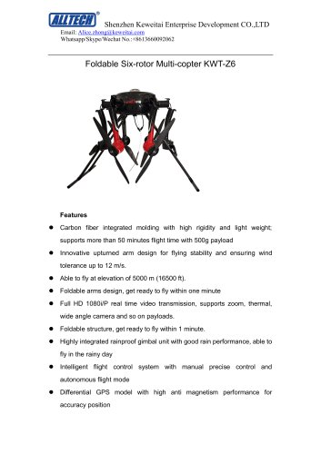 Police Foladable Drone KWT-Z6M