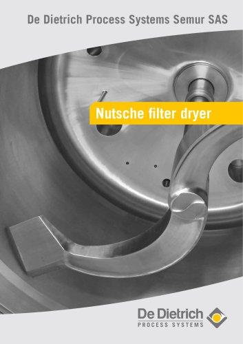 Nutsche filter-dryer