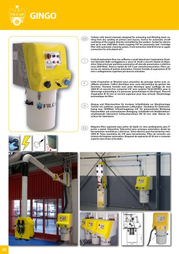 DUST EXTRACTORS Extraction and filtering units