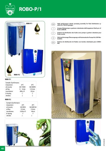 FLUID & ENERGY LUPPLY ROBO-P1 ROBO-P2