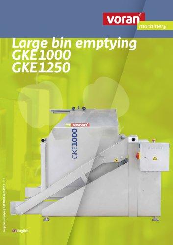Large bin emptying