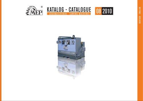 KATALOG - CATALOGUE 08 2010 S Ä G E M A S C H I N E N S A W I N G M A C H I N E S