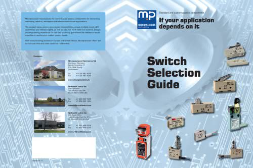 Microprecision Switch Selection Guide