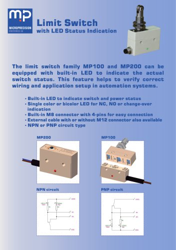 MP200 -Limit Switch with LED status indication