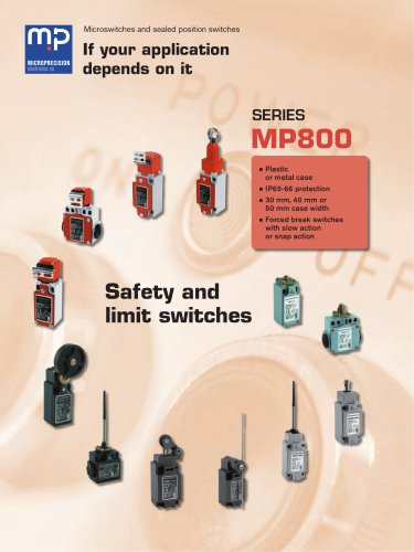 MP800 Safety & Limit switches