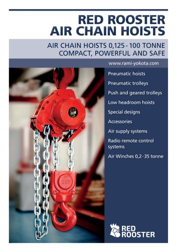 RED ROOSTER Air Chain Hoists